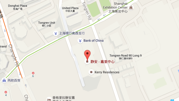 map of shanghai office, used for <Our China Offices>